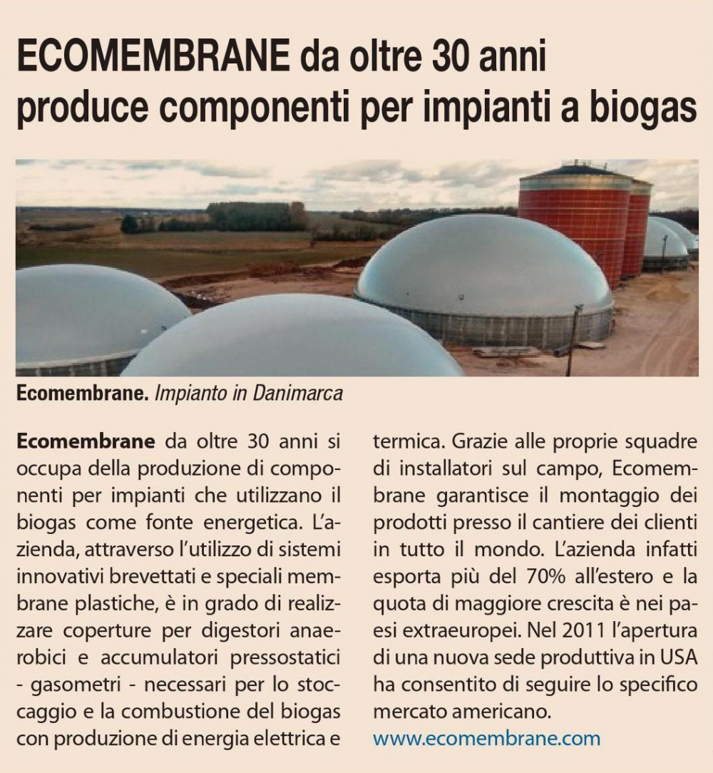 ARTICLE ON IL SOLE 24 ORE N. 160